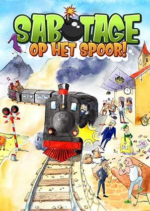 voorplaat afscheidsmusical sabotage op het spoor